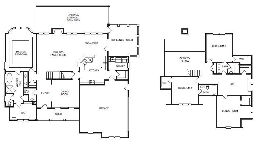 Catawa Floor Plans