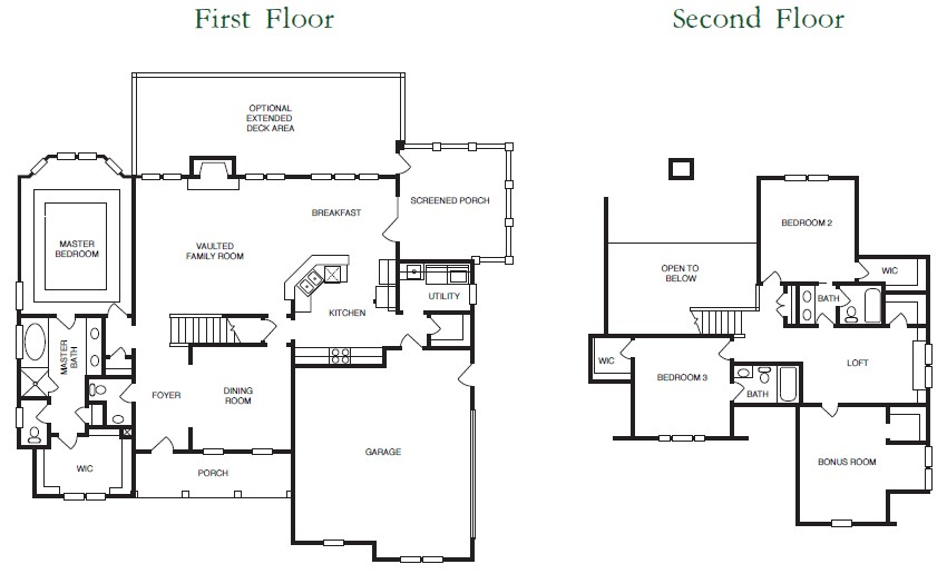 Catawa Floor Plans