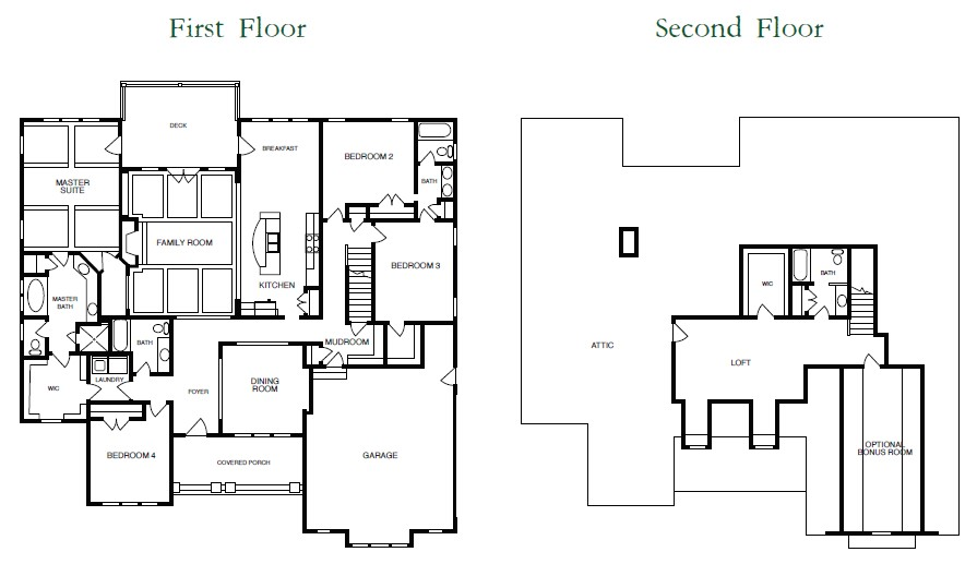 Chapel Hill Floor Plans