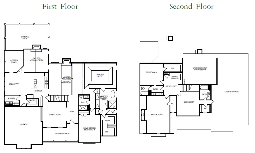 Downing Park Floor Plans