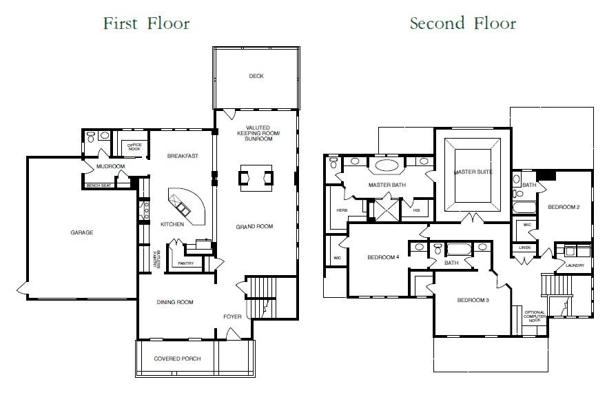 Olde H Floor Plans