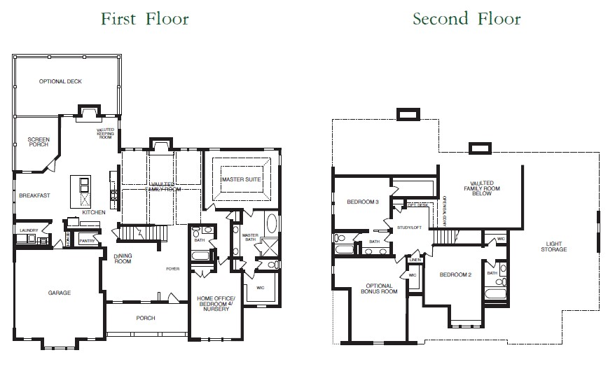 Piedmont Park Floor Plans