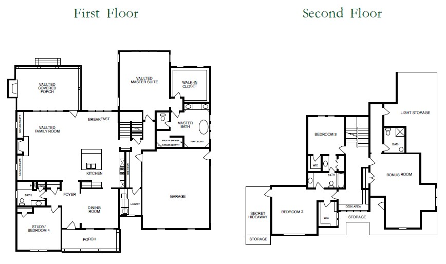 Winterlake Floor Plans